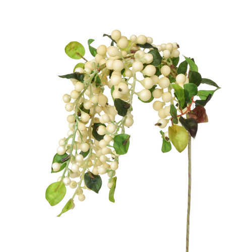 Hanging Artificial Sloe or Berry Spray White