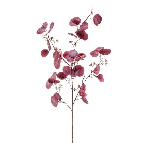 Faux Silk Burgundy Eucalyptus Spray 68cm/26.75 Inches Tall