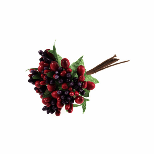 Artificial Seasonal Mixed Berries and Leaves