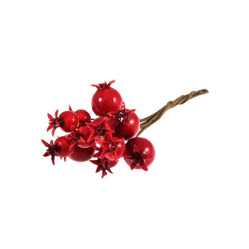 Artificial Seasonal Red Mini Pomegranates on Wires