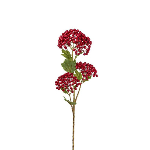 Artificial Viburnum Berry Spray Red