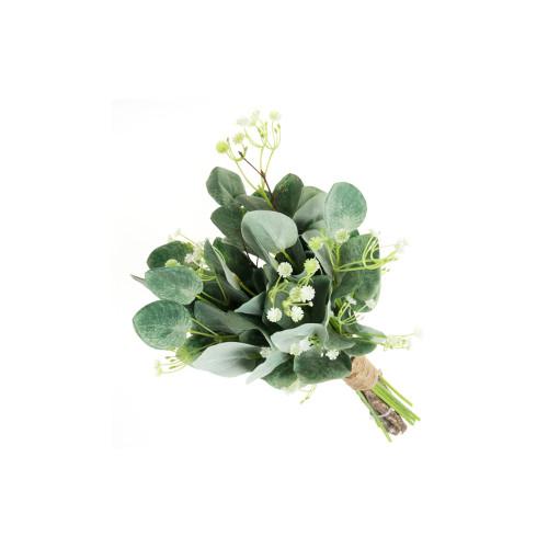 Artificial Eucalyptus, Gypsophila and Natural Twig Bundle
