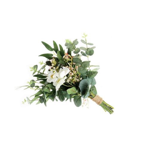 Artificial Eucalyptus, Olive Leaf and Natural Twig Bouquet