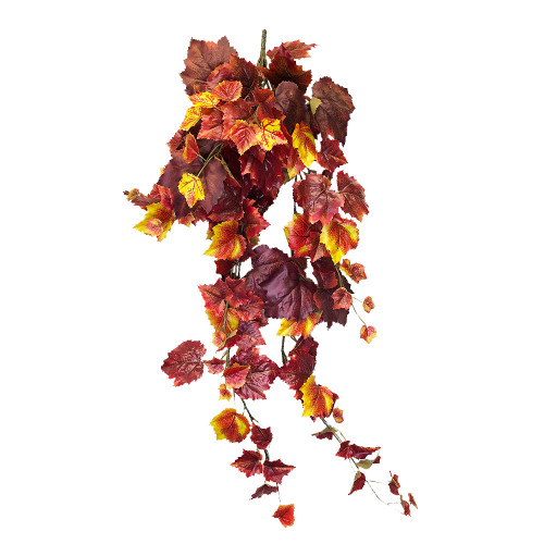 Faux Silk Autumn Grape Ivy Bush