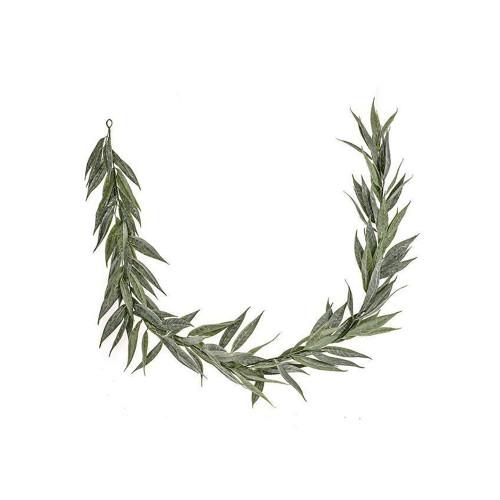 Artificial Long Leaf Green Willow Garland