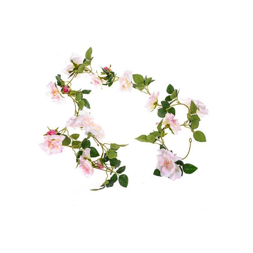 Faux Silk Rose and Foliage Garland
