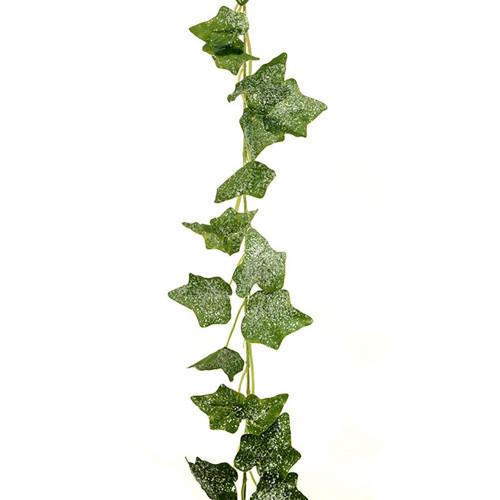 Jack Frost Faux Silk Ivy Winter Garland Green