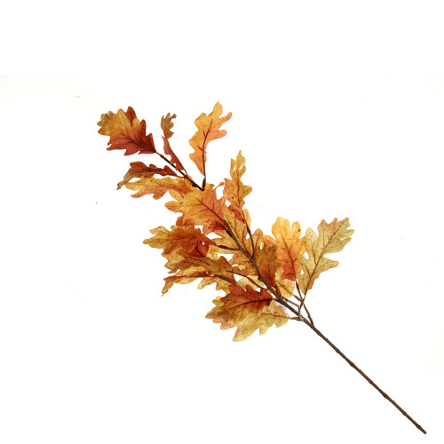 Autumn Faux Silk Oak Leaf Spray