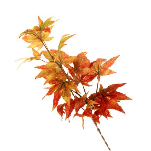 Autumn Faux Silk Japanese Maple Spray