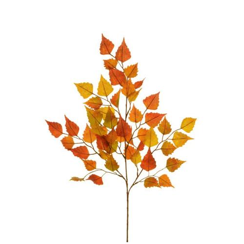 Faux Silk Autumn Birch Spray