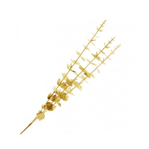 Artificial Spiral Eucalyptus Spray Glitter Gold