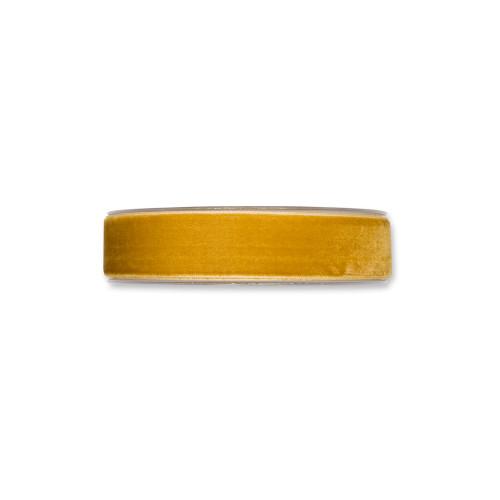 Velvet Fabric Ribbon Honey Yellow