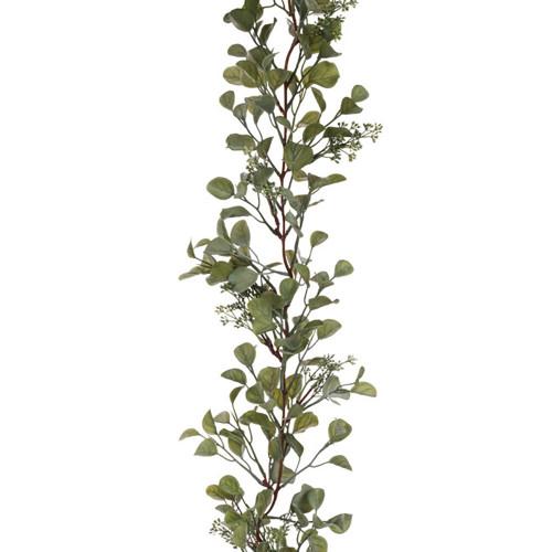 Artificial Green Eucalyptus Berry Garland