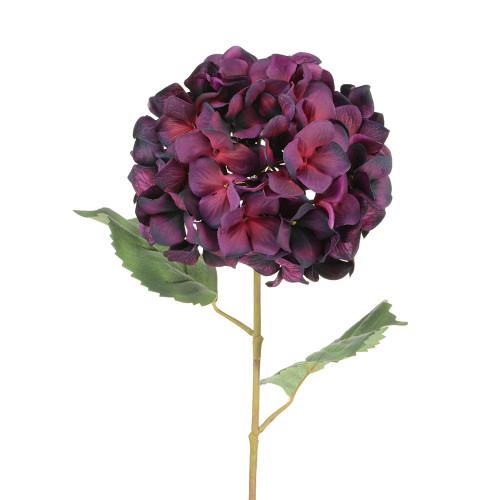 Luxury Artificial Silk Hydrangea Aubergine