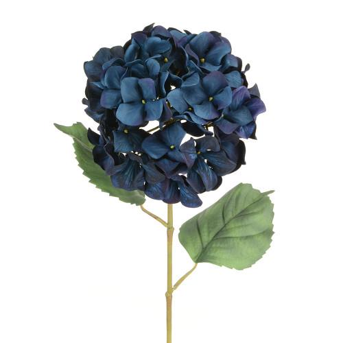 Luxury Artificial Silk Hydrangea Dark Blue