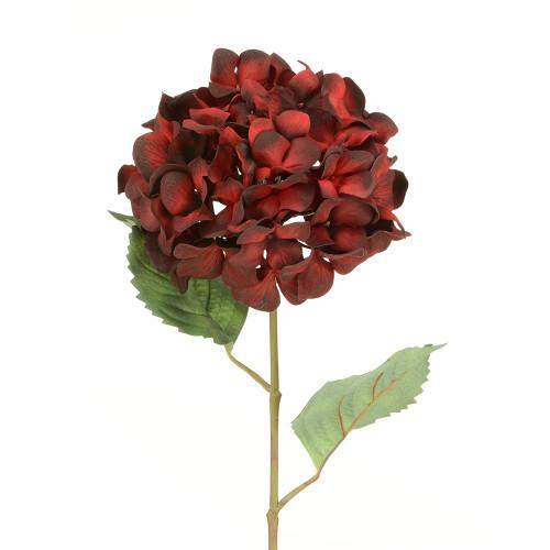Luxury Artificial Silk Hydrangea Red