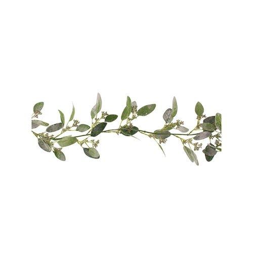 Frosty Artificial Eucalyptus Garland with Seeds