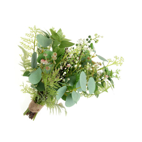 Artificial Eucalyptus Gyp and Fern Mixed Bouquet