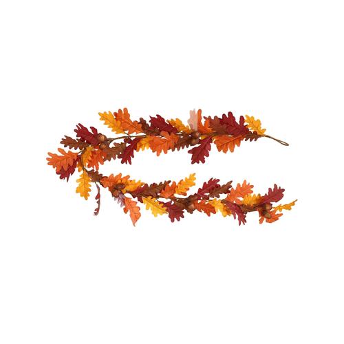 Faux Silk Autumn Oak Leaf Garland