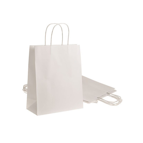 Pack of 10 Quality White Paper Bags