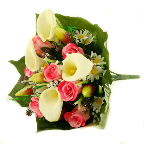 Mixed Bouquet Calla Rose 40cm Pink