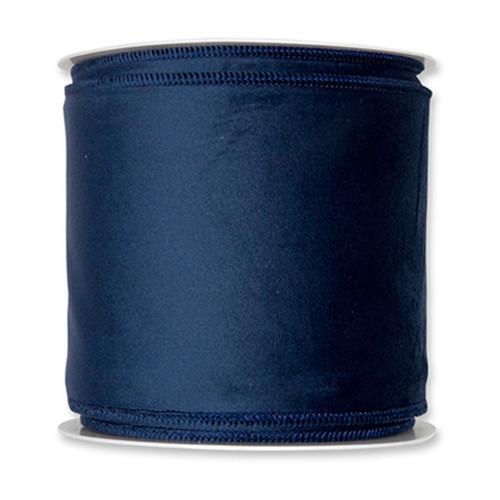 Velvet Fabric Ribbon 100mm x 8m Blue