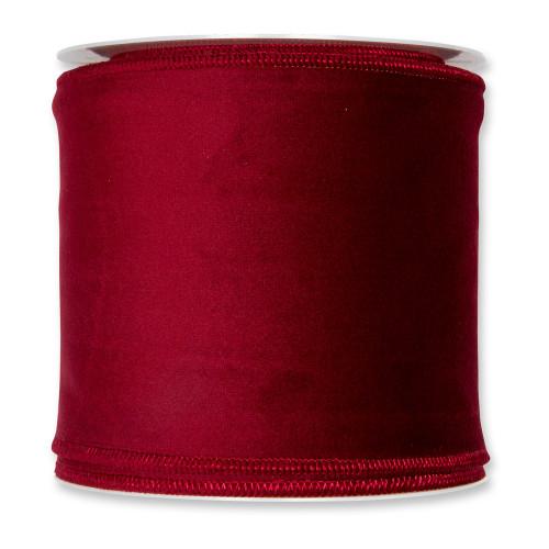 Velvet Fabric Ribbon 100mm x 8m Burgundy Red