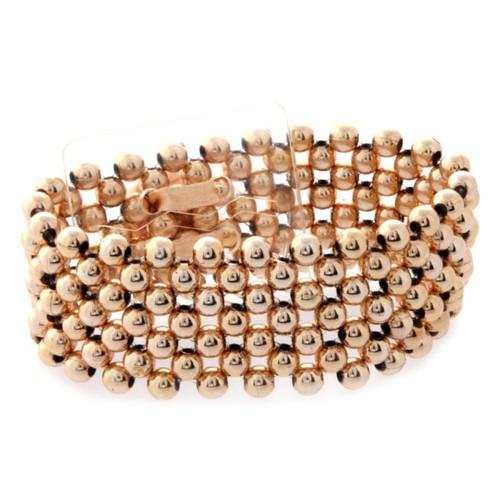 Corsage Bracelet Pearl 2.5cm Rose Gold