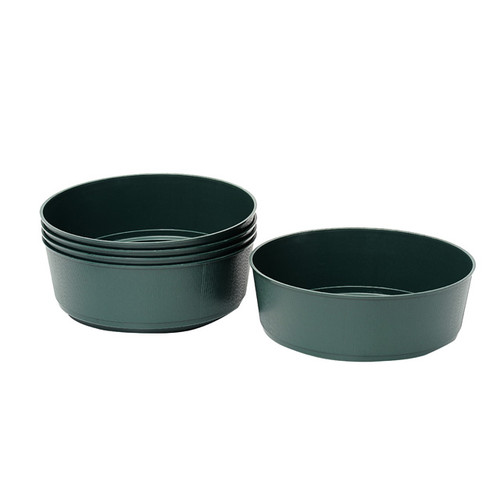 Green Plastic Bulb Bowls 27cm Pack of 5