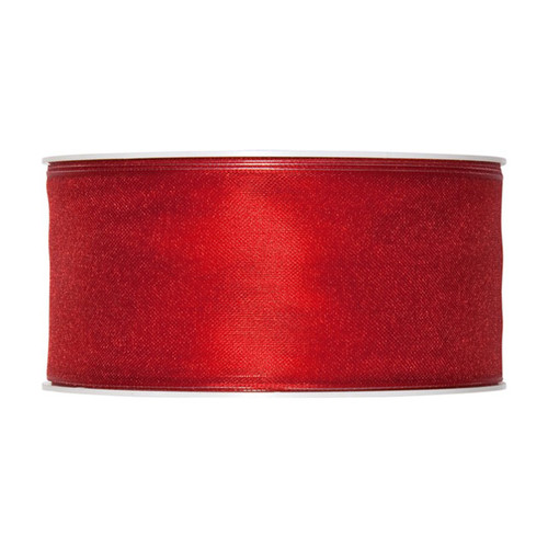 Organza Ribbon 40mm Blood Red x 25m