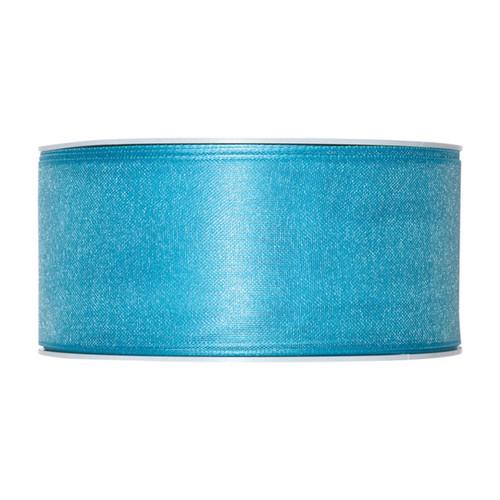 Organza Ribbon 40mm Turquoise Blue x 25m