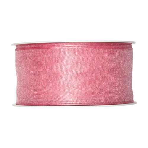 Organza Ribbon 40mm Vintage Pink x 25m