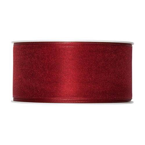 Organza Ribbon 40mm Wine Red x 25m