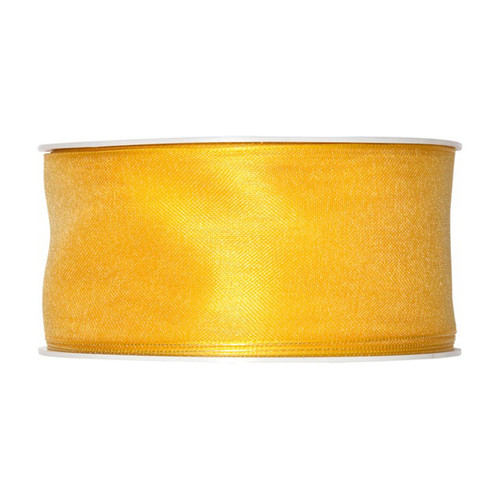 Organza Ribbon 40mm Yellow x 25m