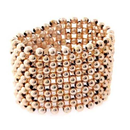Corsage Bracelet Pearl 4cm Rose Gold