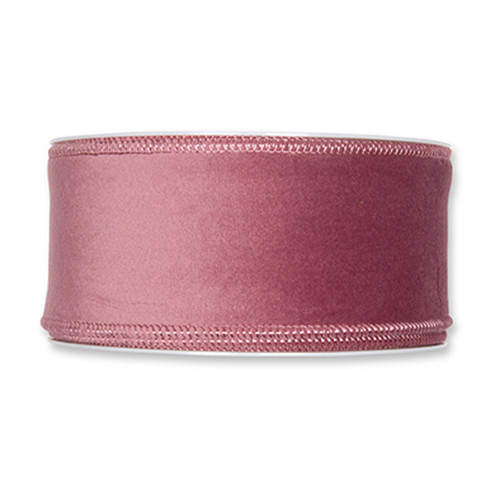 Velvet Fabric Ribbon 50mm x8m Dusky Pink