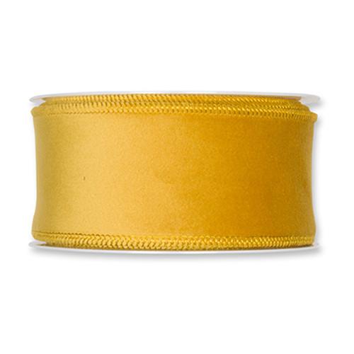 Velvet Fabric Ribbon 50mm x8m Mustard Yellow