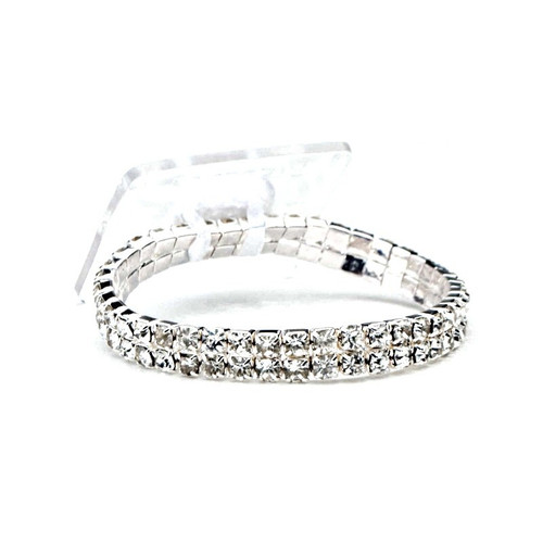 Diamonte Corsage Wrist Band Slim 9mm