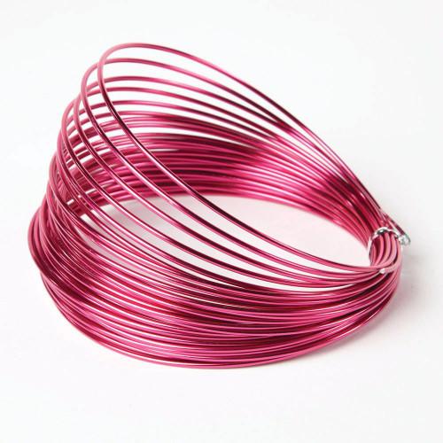 Aluminium Wire 100g Cerise Pink