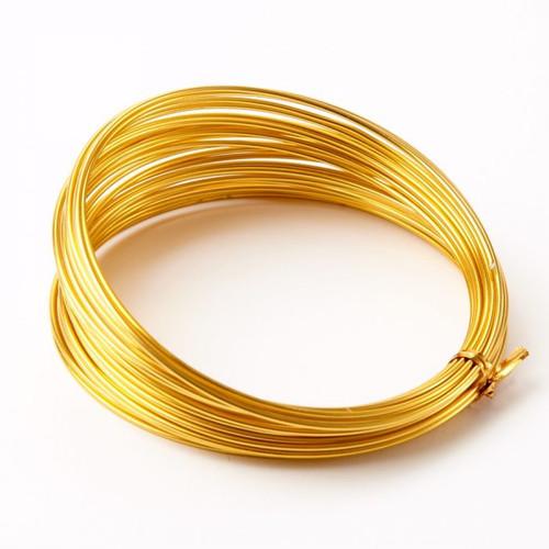 Aluminium Wire 100g Gold