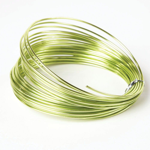 Aluminium Wire 100g Lime Green