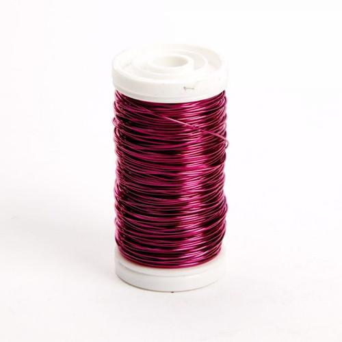 Metallic Wire Reel 100g Cerise Pink