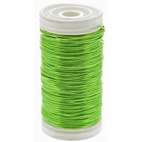 Metallic Wire Reel 100g Lime Green