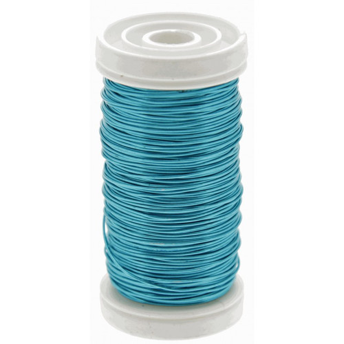 Metallic Wire Reel 100g Turquoise