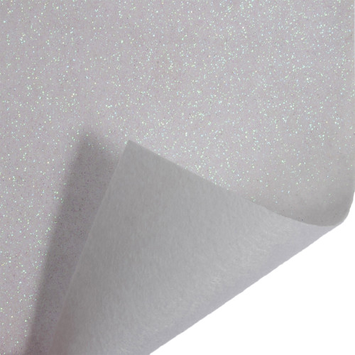Acrylic Felt Roll 45cm Wide on a 1m Roll Glitter White