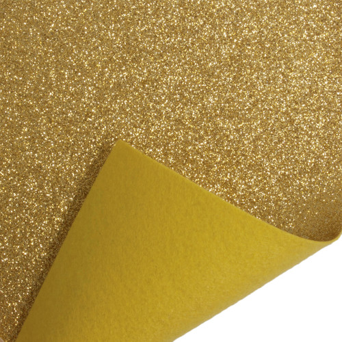 Acrylic Felt Roll 45cm Wide on a 1m Roll Glitter Gold