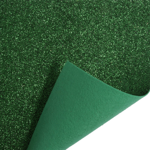 Acrylic Felt Roll 45cm Wide on a 1m Roll Glitter Green