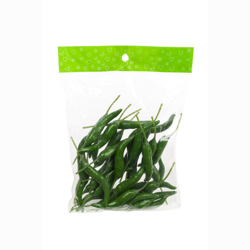 Chilli Peppers 9cm Green Bag of 36