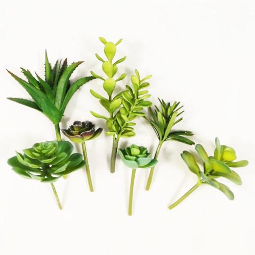Succulent Assortment 12cm Bag of 7 Artificial Varieties