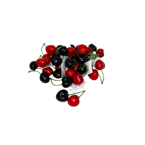 Cherry Pack of 36 Artificial Red Fruits 2.5cm Pack